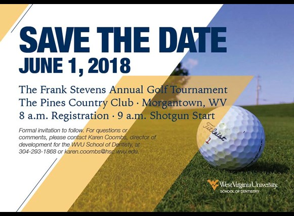 The Frank Stevens Annual Golf Tournament is June 1, 2018.